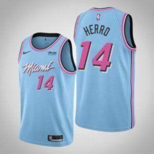Miami Heat 14 Tyler Herro Blue City Edition Jersey